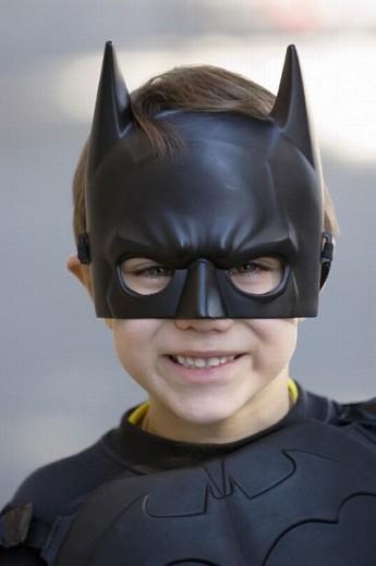 Boy in batman costume : Stock Photo