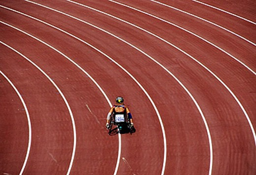 Stock Photo: 1566-260589 Paralympic Games, Barcelona. Catalonia, Spain