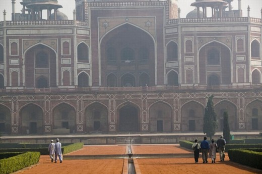 Humayun´s Tomb. Mid 16th century Mughal Architecture. Central Delhi. Delhi. India. : Stock Photo