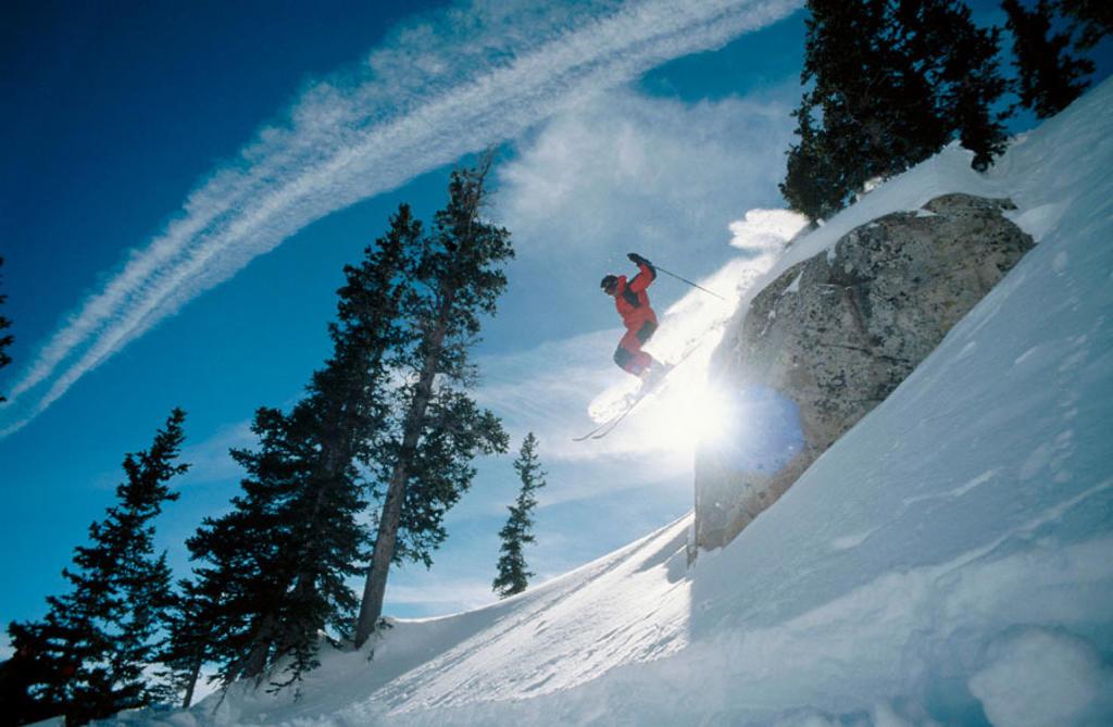 Skiing at Brighton. Utah. USA. : Stock Photo
