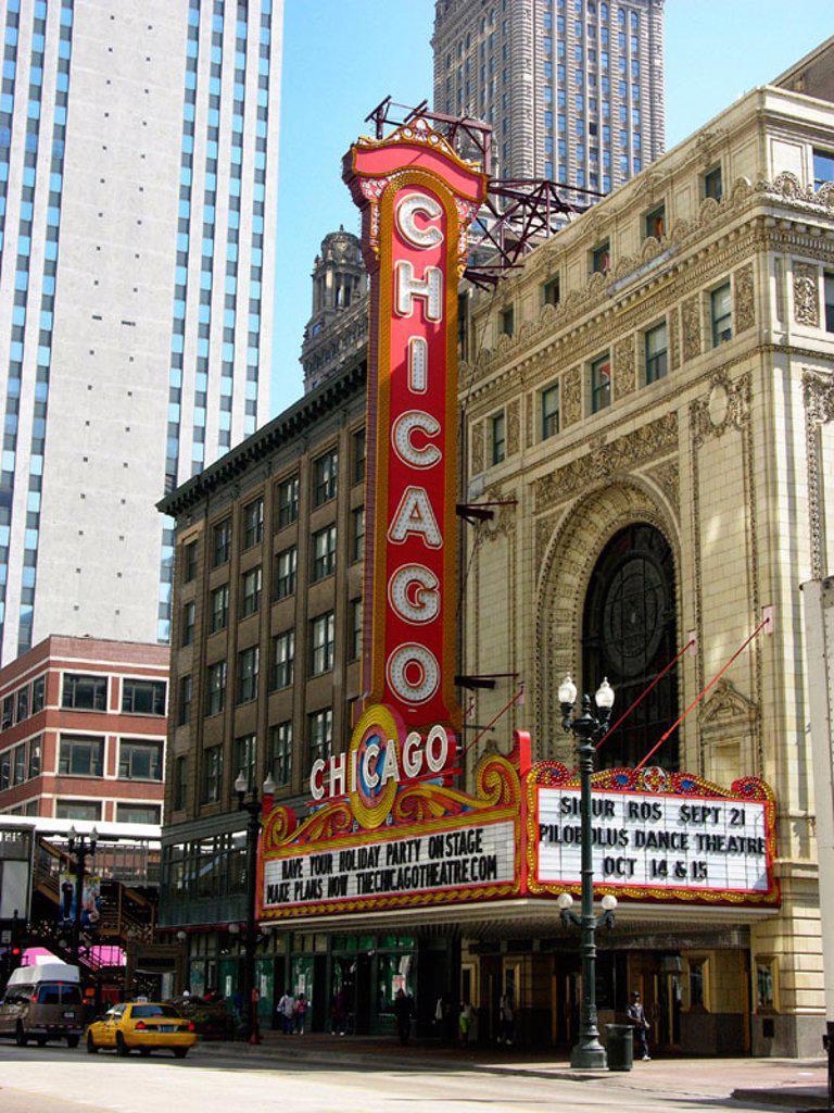 Downtown city of Chicago. Illinois. USA. : Stock Photo