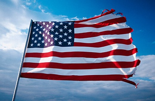 Stock Photo: 1566-262763 American flag