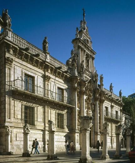 University, Valladolid. Castilla-León, Spain : Stock Photo