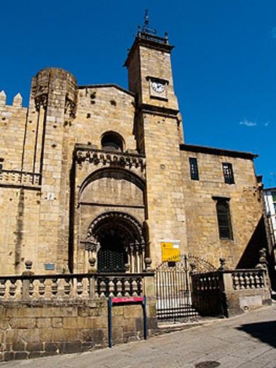 Romanesque cathedral (13th century), Orense. Galicia, Spain : Stock Photo
