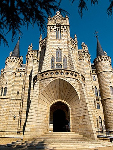 Bishop´s Palace by Gaudí (1887-1893), Astorga. León province, Castilla-León, Spain : Stock Photo