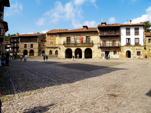 Town Hall in Ramón Pelayo Square, Santillana del Mar. Cantabria, Spain : Stock Photo