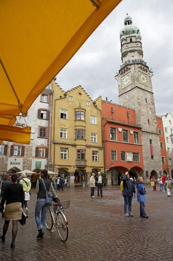 Stock Photo: 1566-264458 Stadtturm, Altes Rathaus, Herzog Friedrich Strasse, Innsbruck, Tirol, Austria