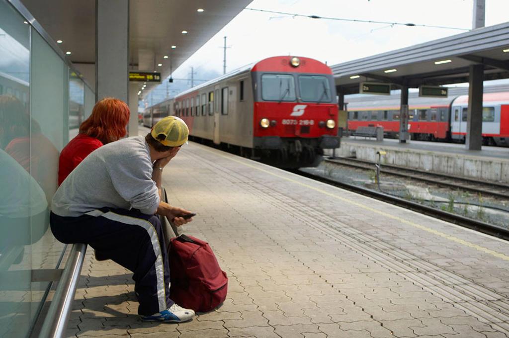 Stock Photo: 1566-264464 Railway station. Hauptbahnhof, Innsbruck, Tirol, Austria