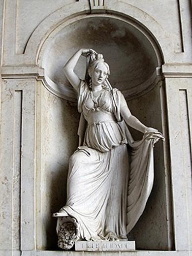 Stock Photo: 1566-264698 Statue to the Liberality in Palácio das Necessidades, Lisbon. Portugal