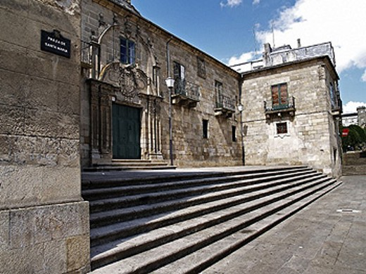 Santa Maria Square. Galicia, Spain : Stock Photo