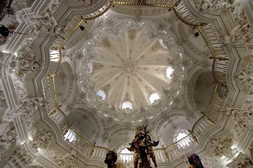 Baroc style ´Sagrario´ chapel of the Asuncion church at Priego de Cordoba. Córdoba province. Andalucia. Spain. : Stock Photo