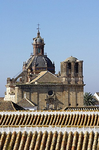 Baroque church of the Saviour (17th century), Carmona. Sevilla province, Andalusia, Spain : Stock Photo