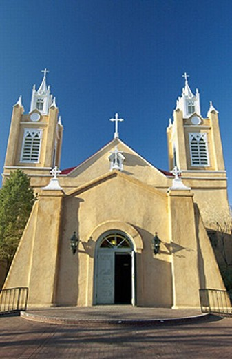The San Felipe de Neri church in Albuquerque, New Mexico, USA. : Stock Photo