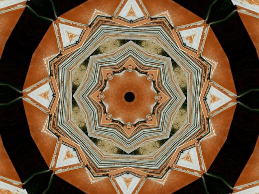 kaleidoscope pattern : Stock Photo
