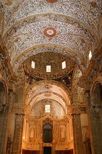 Stock Photo: 1566-265785 Church, monastery of Santa Maria de Valldigna. Simat de la Valldigna, Valencia province. Comunidad Valenciana, Spain