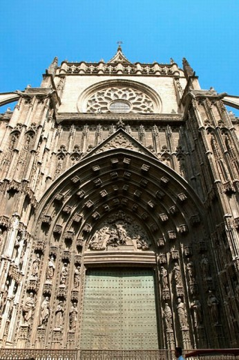 West gate. Sevilla cathedral. Sevilla. Andalucia. Spain. : Stock Photo