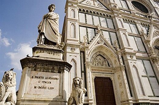 Statue of Dante, Florence, Italy : Stock Photo