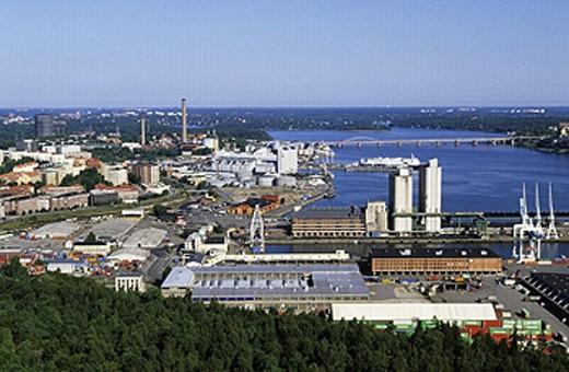 Overview seen from Kaknas Tornet. Stockholm. Sweden. : Stock Photo