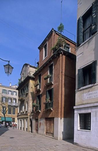 Stock Photo: 1566-267432 Campiello Santa Maria Nova, Venice. Veneto, Italy