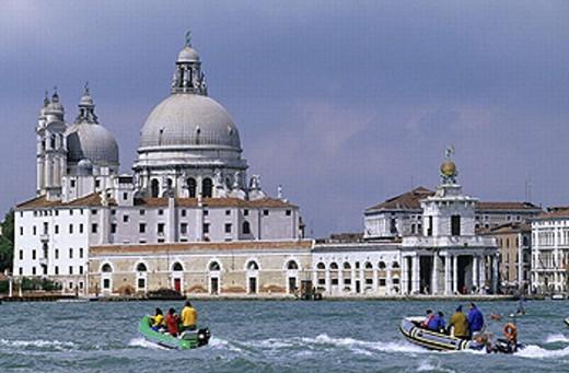 Stock Photo: 1566-267661 Punta della Dogana and Santa Maria della Salute, Venice. Veneto, Italy