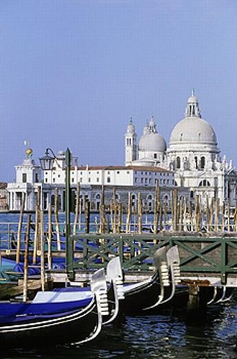 Punta della Dogana and Santa Maria della Salute, Venice. Veneto, Italy : Stock Photo