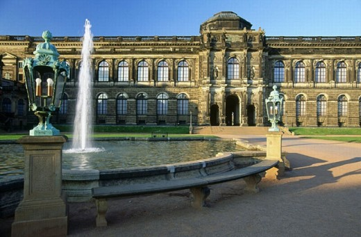 Stock Photo: 1566-269316 Zwinger Palace courtyard, Dresden. Saxony, Germany