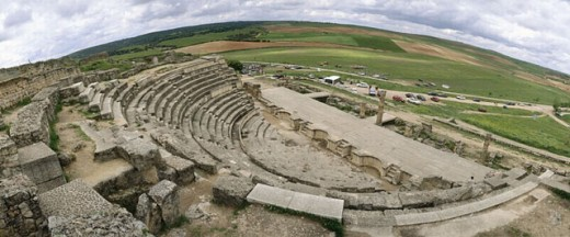 Segobriga Amphitheater. Cuenca province. Spain. : Stock Photo