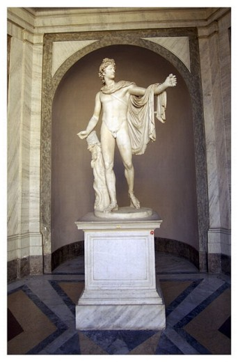 Stock Photo: 1566-271215 Sculpture in Vatican Museums. Vatican City, Rome. Italy