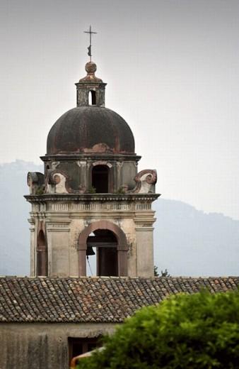 Church dome in Taormina. Sicily, Italy : Stock Photo
