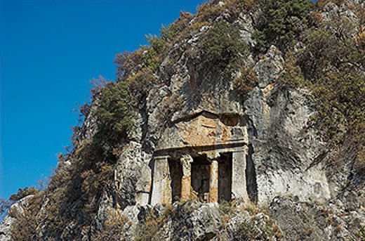 Relics of the Lycian city of Telmessos at Fethiye, Turkey : Stock Photo