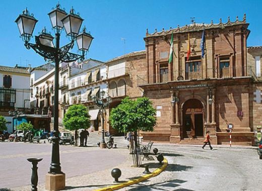 Stock Photo: 1566-275351 Town Hall, Plaza de España , Montoro, Córdoba province, Spain