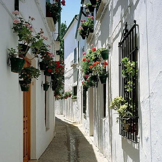 Barrio de la Villa, Priego de Córdoba, Córdoba province, Spain : Stock Photo