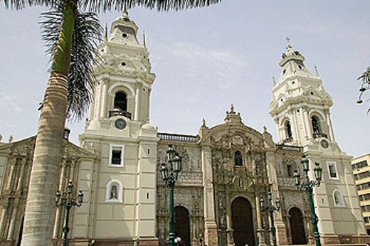 Cathedral, 1874. Lima. Perú. : Stock Photo