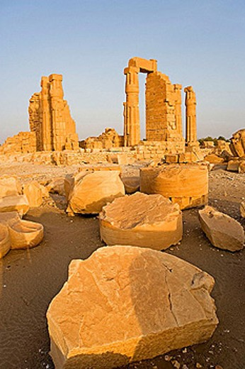 Stock Photo: 1566-276487 Temple of Soleb, built during the reign of Amenophis III. Upper Nubia, ash-Shamaliyah state, Sudan