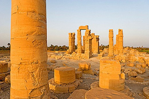 Temple of Soleb, built during the reign of Amenophis III. Upper Nubia, ash-Shamaliyah state, Sudan : Stock Photo