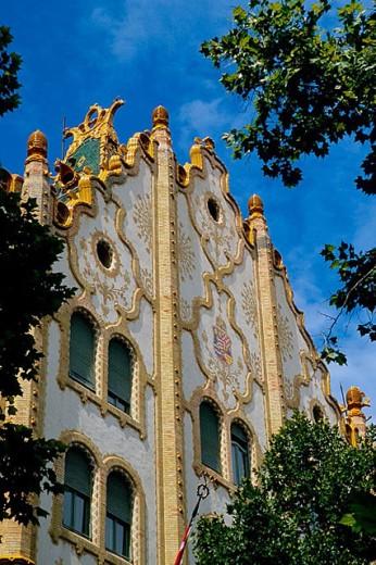 Post Office Savings Bank, art nouveau. Budapest. Hungary. : Stock Photo