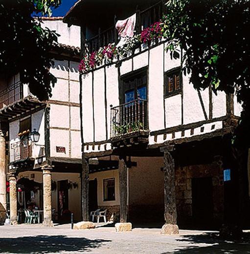 Casa de Doña Sancha (15th century), Covarrubias. Ruta del Cid, Burgos province, Castilla-León, Spain : Stock Photo