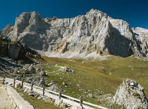 Peña Vieja (2613 m.), Picos de Europa. Cantabria, Spain : Stock Photo