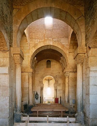 Visigoth church of San Pedro de la Nave. Zamora province, Castilla-León, Spain : Stock Photo