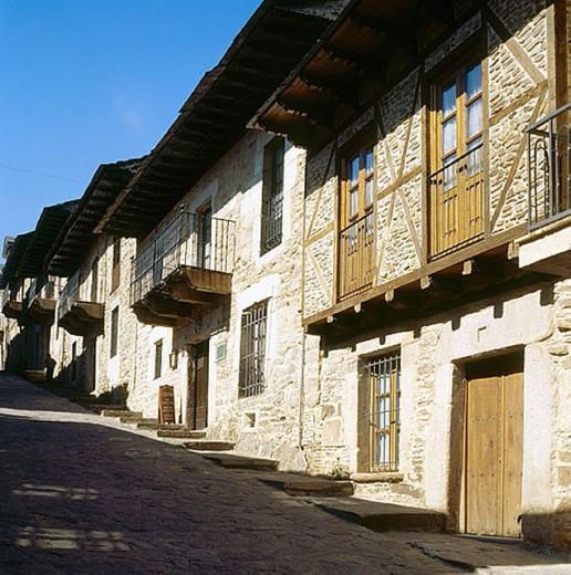 Stock Photo: 1566-277611 Calle de la Rua, Puebla de Sanabria. Zamora province, Castilla-Léon, Spain