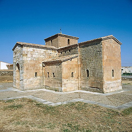 Stock Photo: 1566-277616 Visigoth church of San Pedro de la Nave. Zamora province, Castilla-León, Spain