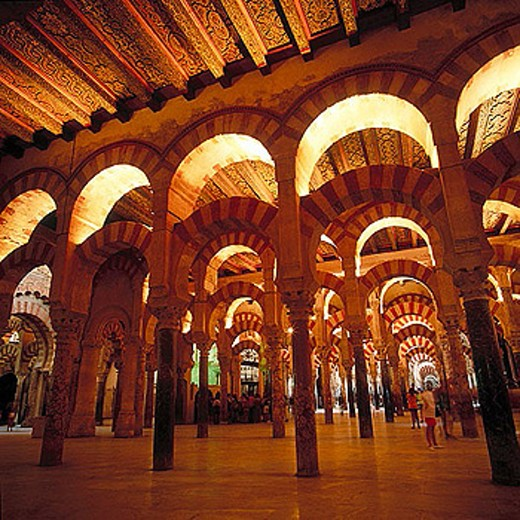 Alhakem II´s enlargement of Cordoba´s mosque (yr. 961). Cordoba. Spain : Stock Photo