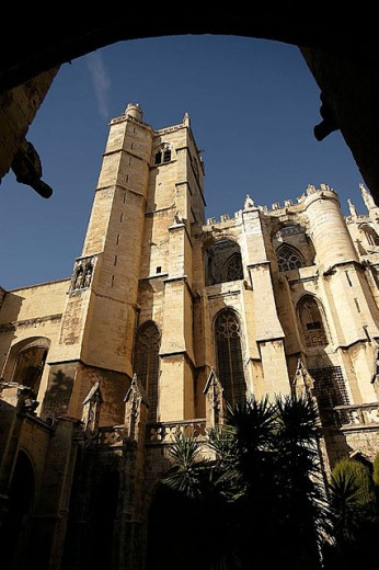 St. Just and St. Pasteur cathedral, Narbonne. Aude, Languedoc-Roussillon. France : Stock Photo
