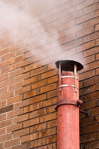 Stock Photo: 1566-279727 Vent pipe releasing steam