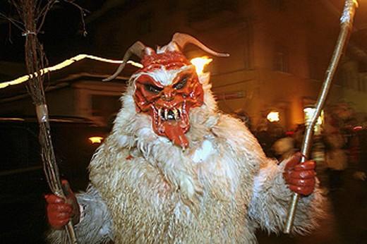 Krampus festival, Tolmezzo. Friuli-Venezia Giulia, Italy : Stock Photo