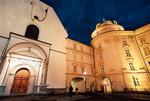 Stock Photo: 1566-280380 Imperial curch and Palace. Innsbruck. Tyrol. Austria.