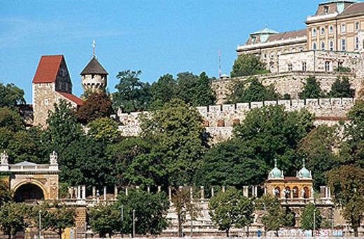 Ferdinand Gate. Castle. Budapest. Hungary. : Stock Photo