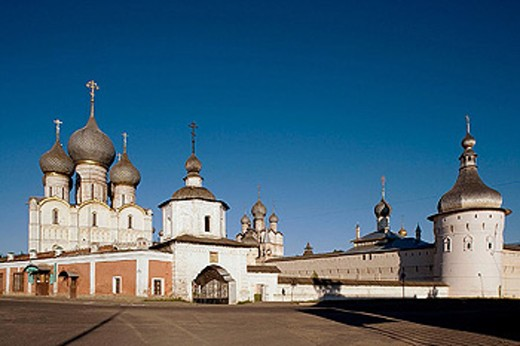 Trading rows of the Kremlin, Rostov the Great. Golden Ring, Russia : Stock Photo