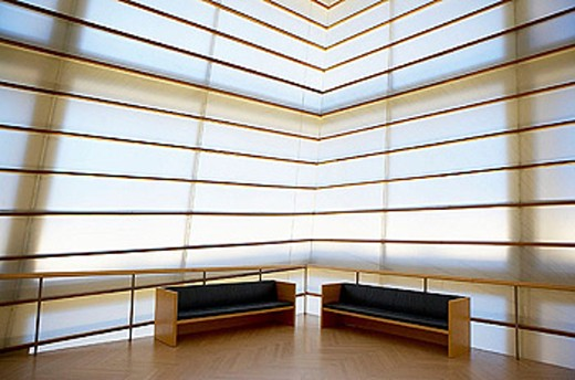 Interior of the Kursaal Center, by Rafael Moneo. San Sebastián. Spain : Stock Photo