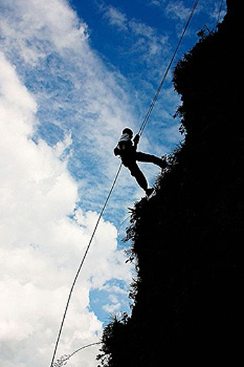 Rappel. Veracruz, Mexico : Stock Photo
